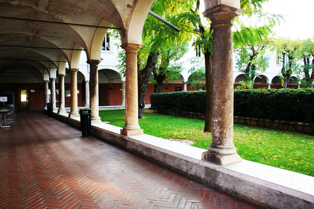 The cloister of San Francesco seat