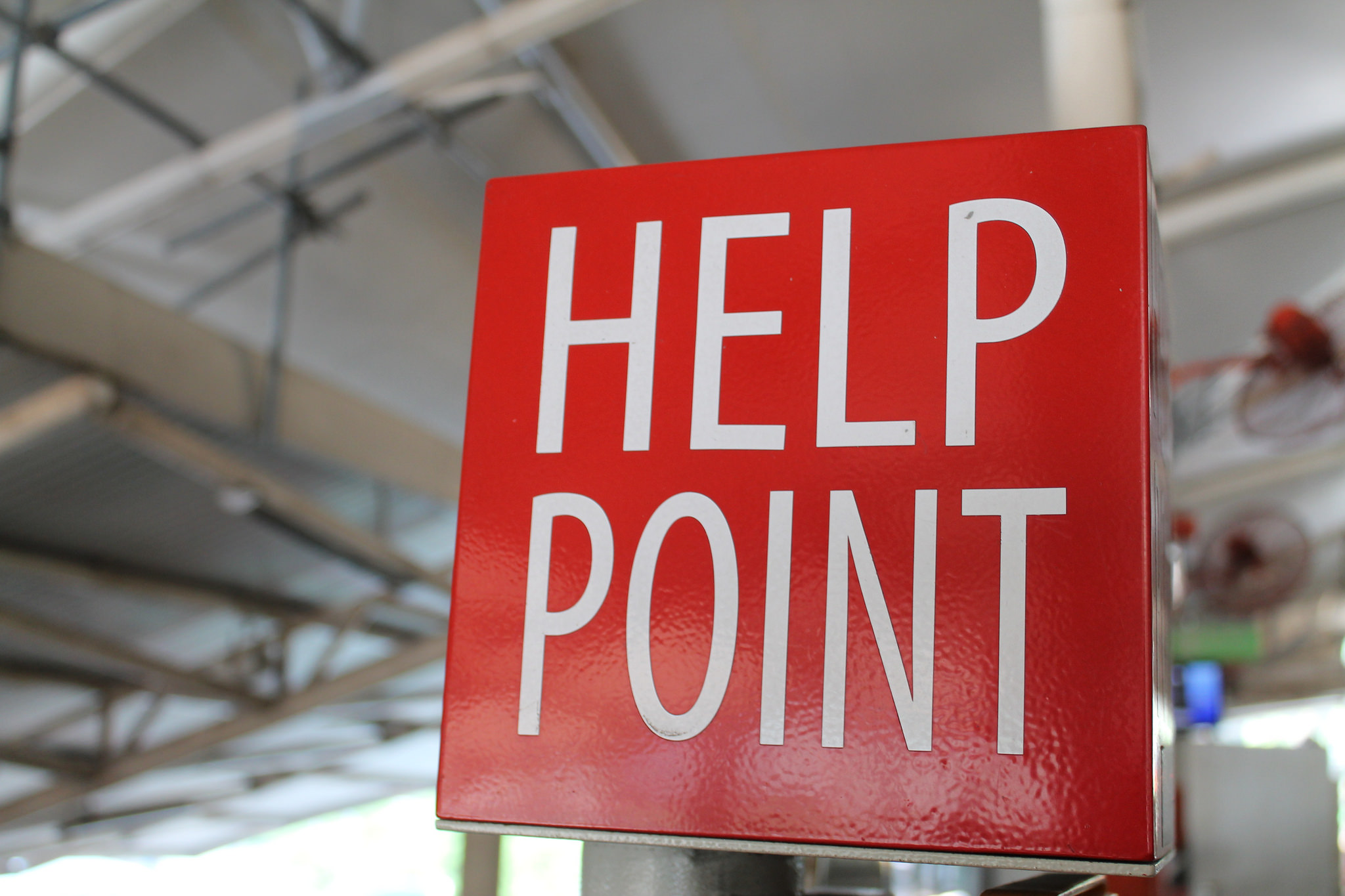 """Help Point"" by Aron Elal (source Flickr)"