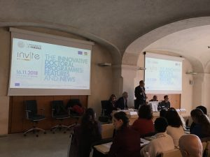 Prof. Nicola Sartor, rector of the University of Verona, welcomes the attendees of the INVITE Conference (Verona, 16/11/2018)