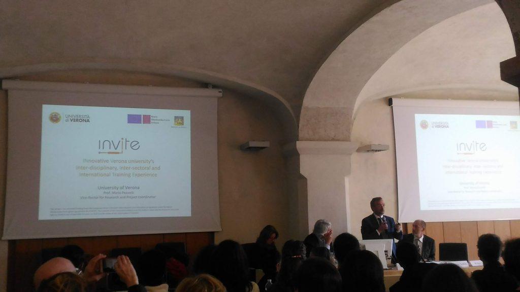 Mario Pezzotti, University of Verona) and INVITE project coordinator (Verona, 16/11/2018)