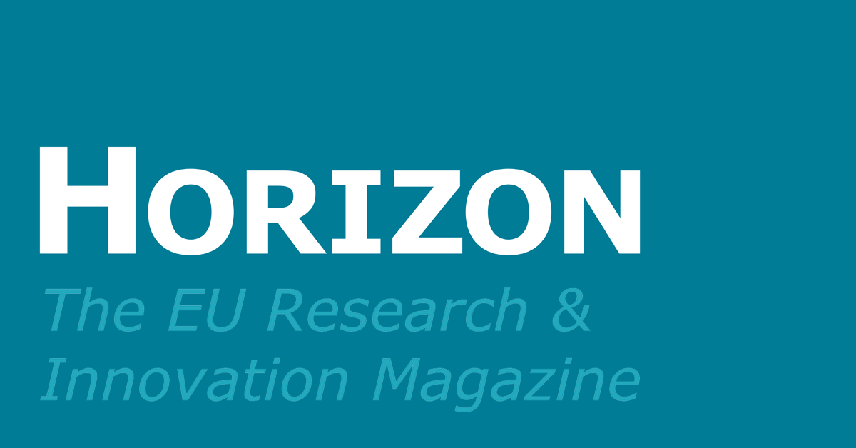 The cover of Horizon. The EU Research & Innovation Magazine
