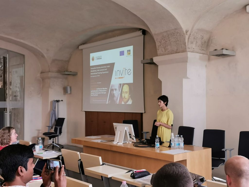 Petra Bjelica at the Mid-term review visit (Verona, 17/9/2019)