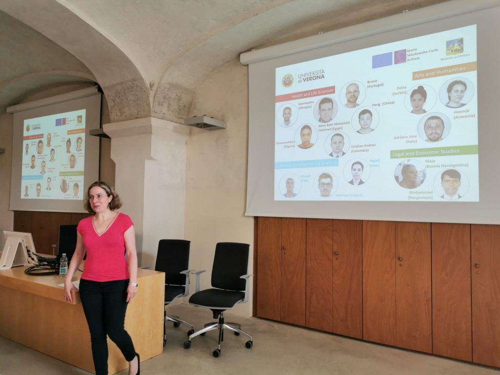 Brigitta Bősze at the Mid-term review visit (Verona, 17/9/2019)