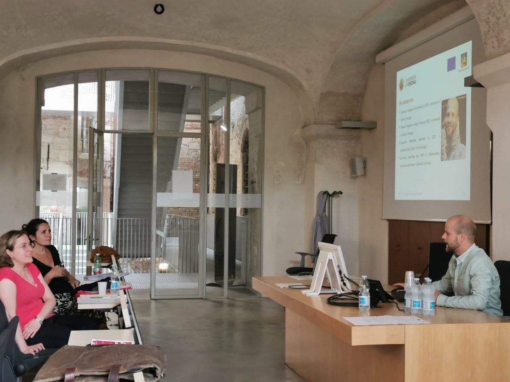 Bruno Lima at the Mid-term review visit (Verona, 17/9/2019)