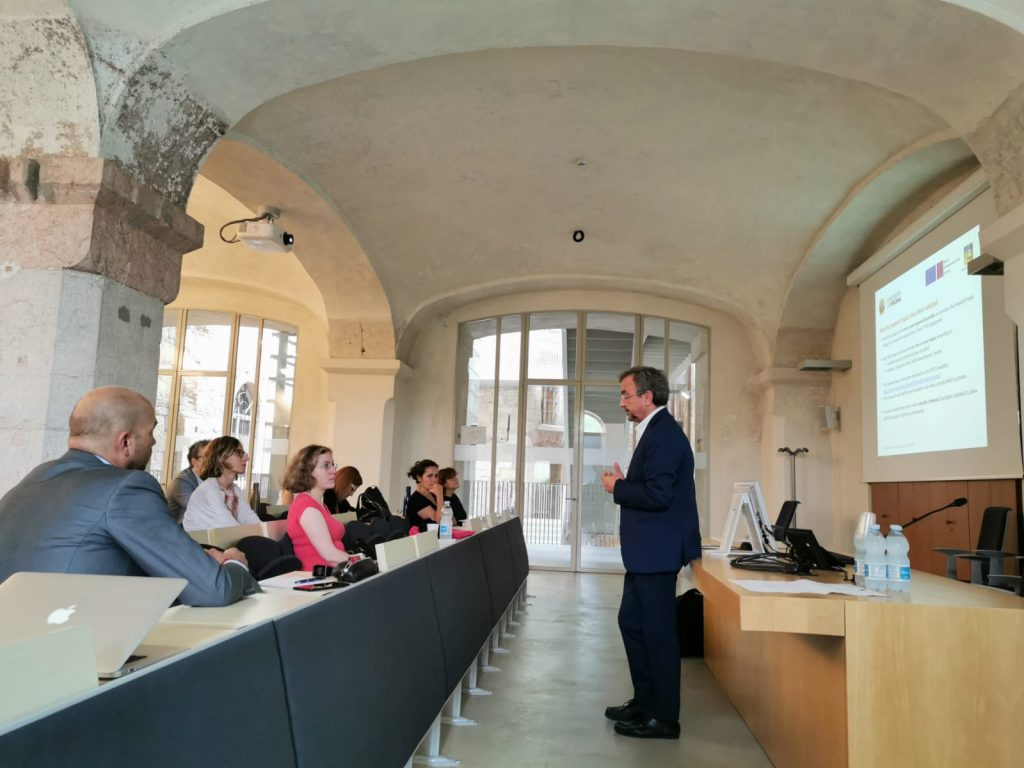 A moment of the Mid-term review visit (Verona, 17/9/2019)