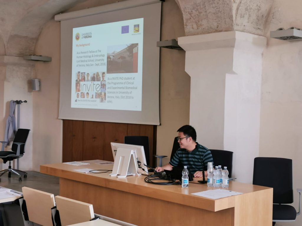 Hu Peng at the Mid-term review visit (Verona, 17/9/2019)