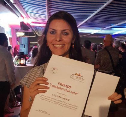 Samaneh and the Best Poster Prize (63rd SIGA Annual Congress)