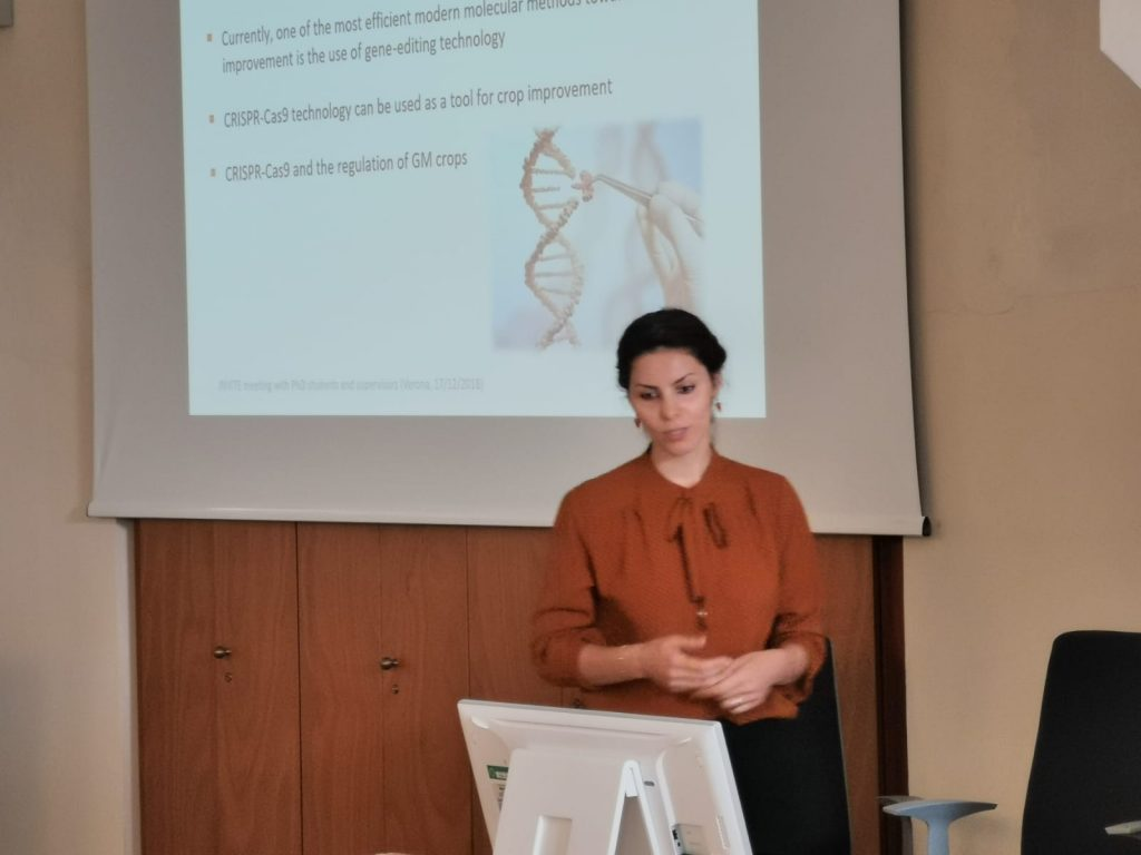 Samaneh Najafi at the Mid-term review visit (Verona, 17/9/2019)