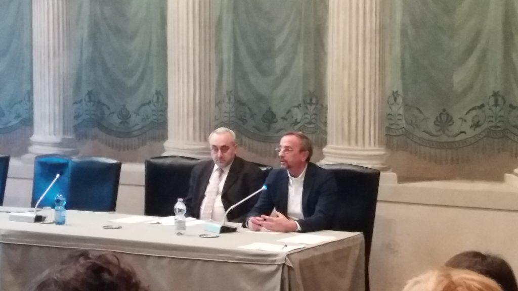 Denis Delfitto and Mario Pezzotti (Second INVITE annual seminar, Verona, 4/12/2019)