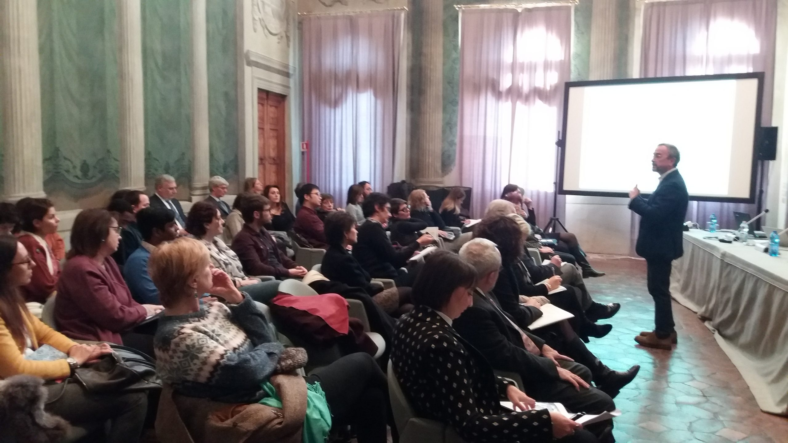 Mario Pezzotti at the second INVITE annual workshop (Verona, 4/12/2019)