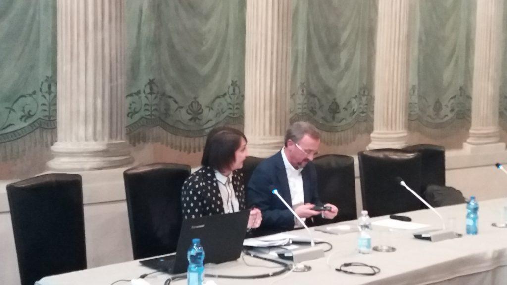 Maria Vittoria D'Inzeo and Mario Pezzotti (Second INVITE annual seminar, Verona, 4/12/2019)