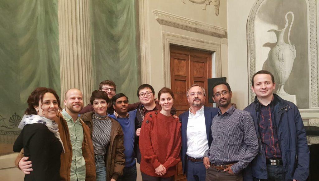 The INVITE fellows with Mario Pezzotti at the second INVITE annual workshop (Verona, 4/12/2019)