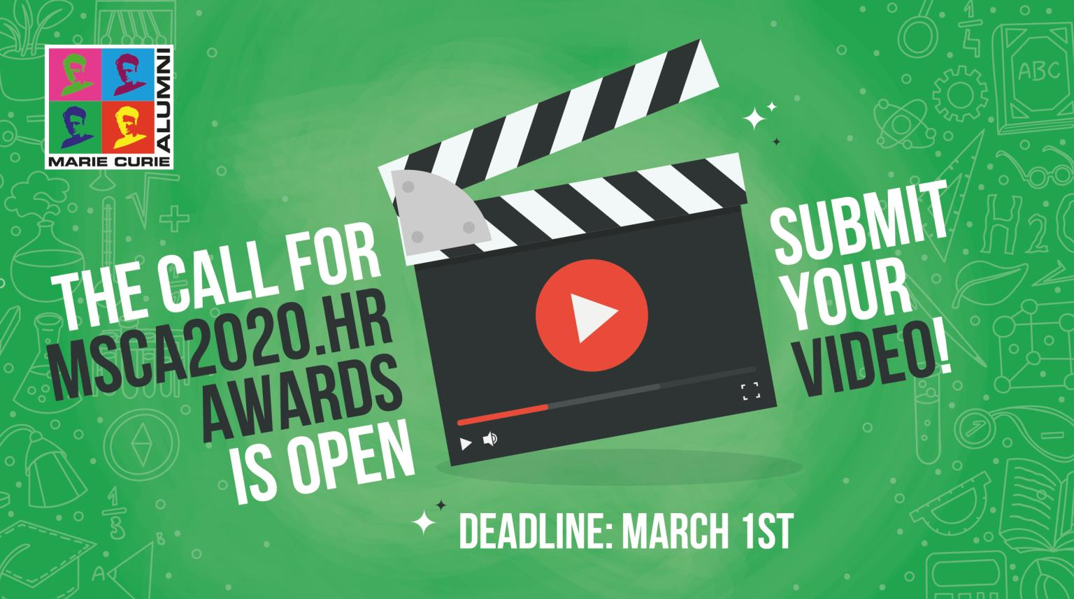 Call for MSCA2020.hr Awards is open! Deadline for submission is March 1st 2020, 17:00:00 Brussels time